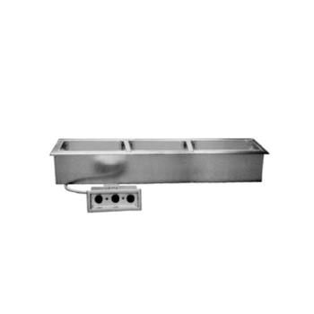DELN8768ND - Delfield - N8768ND - 3 Pan 67 1/2 in Drop-In Electric Food Well w/ Drain Product Image