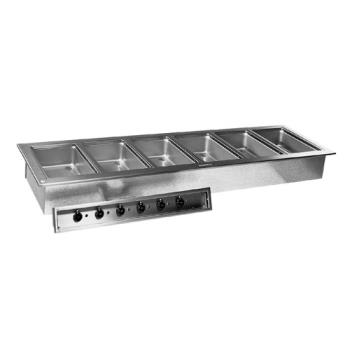 DELN8787D - Delfield - N8787-D - 6 Pan 87 1/4 in Drop-In Heated Electric Food Well Product Image