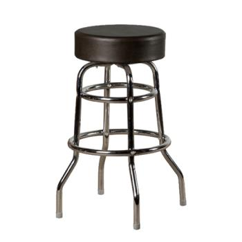 OAKSL2129BLK - Oak Street - SL2129-BLK - Black Button Top Stool w/Chrome Frame Product Image