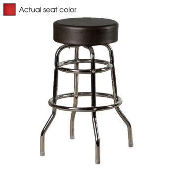 OAKSL2129RED - Oak Street - SL2129-RED - Red Button Top Stool w/Chrome Frame Product Image