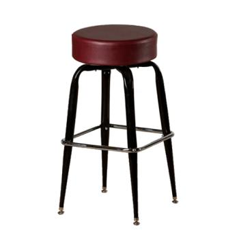 OAKSL2135WINE - Oak Street - SL2135-WINE - Wine Button Top Stool w/Bucket Frame Product Image