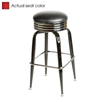OAKSL2138RED - Oak Street - SL2138-RED - Red Retro Style Stool w/Bucket Frame Product Image
