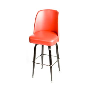 OAKSL2133RED - Oak Street - SL2133-RED - Red Bucket Seat Barstool w/Bucket  Frame Product Image