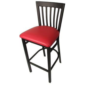 OAKSL42791RED - Oak Street - SL4279-1-RED - Jailhouse Barstool w/Red Vinyl Seat Product Image
