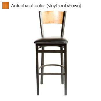 OAKSL21501PC - Oak Street - SL2150-1-P-C - Plain Cherry Wood Back & Seat Barstool Product Image