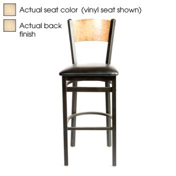 OAKSL21501PN - Oak Street - SL2150-1-P-N - Plain Natural Wood Back & Seat Barstool Product Image