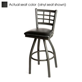 OAKSL2163SB - Oak Street - SL2163S-B - Windowpane Swivel Barstool w/Black Wood Seat Product Image