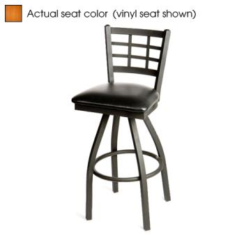 OAKSL2163SC - Oak Street - SL2163S-C - Windowpane Swivel Barstool w/Cherry Wood Seat Product Image