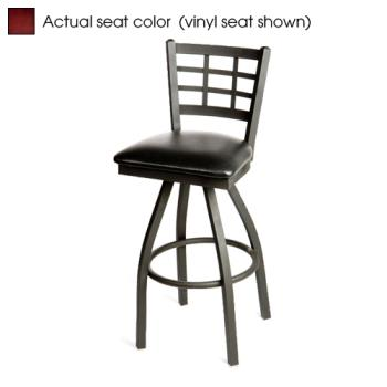 OAKSL2163SM - Oak Street - SL2163S-M - Windowpane Swivel Barstool w/Mahogany Wood Seat Product Image