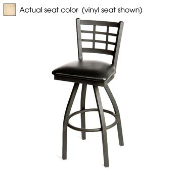 OAKSL2163SN - Oak Street - SL2163S-N - Windowpane Swivel Barstool w/Natural Wood Seat Product Image