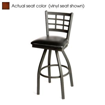 OAKSL2163SW - Oak Street - SL2163S-W - Windowpane Swivel Barstool w/Walnut Wood Seat Product Image