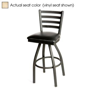 OAKSL2301SN - Oak Street - SL2301S-N - Ladderback Swivel Barstool w/Natural Wood Seat Product Image