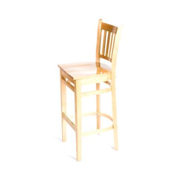 OAKWB102N - Oak Street - WB102-N - Verticalback Natural All Wood Barstool Product Image