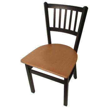 OAKSL2090N - Oak Street - SL2090-N - Verticalback Chair w/Natural Wood Seat Product Image