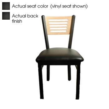 OAKSL21505B - Oak Street - SL2150-5-B - 5-Line Black Wood Back & Seat Chair Product Image