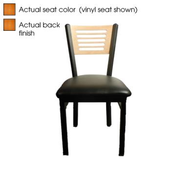 OAKSL21505C - Oak Street - SL2150-5-C - 5-Line Cherry Wood Back & Seat Chair Product Image