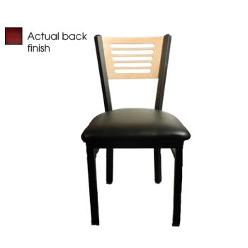OAKSL21505MBLK - Oak Street - SL2150-5-M-BLK - 5-Line Mahogany Wood Back Chair w/Black Vinyl Seat Product Image