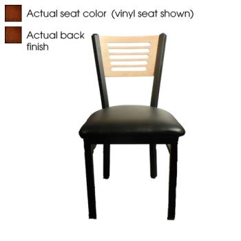 OAKSL21505W - Oak Street - SL2150-5-W - 5-Line Walnut Wood  Back & Seat Chair Product Image