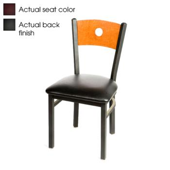 OAKSL2150BBWINE - Oak Street - SL2150-B-B-WINE - Bullseye Black Wood Back Chair w/Wine Vinyl Seat Product Image