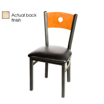 OAKSL2150BNBLK - Oak Street - SL2150-B-N-BLK - Bullseye Natural Wood Back Chair w/Black Vinyl Seat Product Image