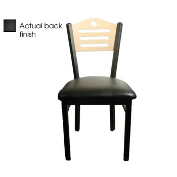 OAKSL2150SHBBLK - Oak Street - SL2150-SH-B-BLK - Shoreline Back Chair w/Black Vinyl Seat Product Image