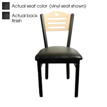 OAKSL2150SHB - Oak Street - SL2150-SH-B - Shoreline Black Wood Back & Seat Chair Product Image