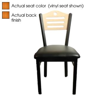OAKSL2150SHC - Oak Street - SL2150-SH-C - Shoreline Cherry Wood Back & Seat Chair Product Image