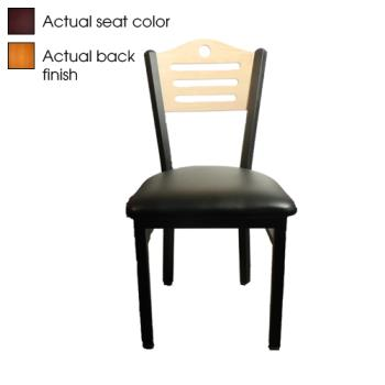 OAKSL2150SHCWINE - Oak Street - SL2150-SH-C-WINE - Shoreline Back Chair w/Wine Vinyl Seat Product Image