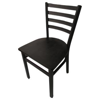 OAKSL2160B - Oak Street - SL2160-B - Ladderback Dining Chair w/Black  Wood Seat Product Image