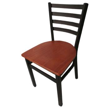 OAKSL2160C - Oak Street - SL2160-C - Ladderback Dining Chair w/Cherry Wood Seat Product Image