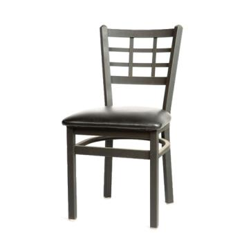OAKSL2163BLK - Oak Street - SL2163-BLK - Windowpane Chair w/Black Vinyl Seat Product Image