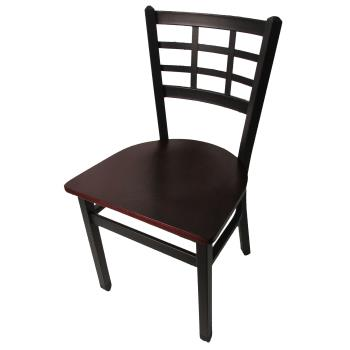 OAKSL2163M - Oak Street - SL2163-M - Windowpane Chair w/Mahogany Wood Seat Product Image