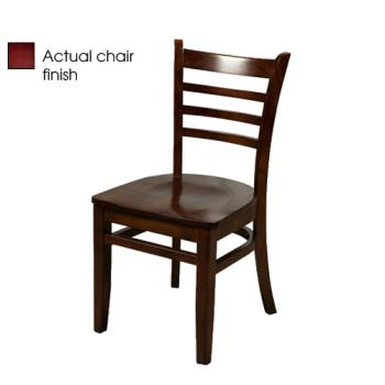 OAKWC101M - Oak Street - WC101-M - Ladderback Mahogany All Wood Chair Product Image