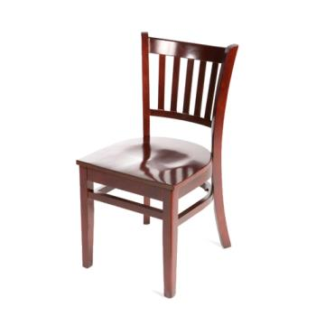 OAKWC102M - Oak Street - WC102-M - Verticalback Mahogany All Wood Chair Product Image