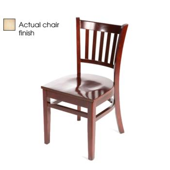 OAKWC102N - Oak Street - WC102-N - Verticalback Natural All Wood Chair Product Image