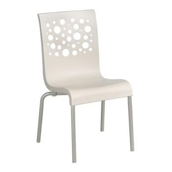 GFXUS100004 - Grosfillex - US021004 - White/White Tempo Sidechair - 4 Pack Product Image