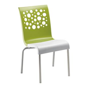 GFXUS100152 - Grosfillex - US021152 - Fern Green/White Tempo Sidechair - 4 Pack Product Image