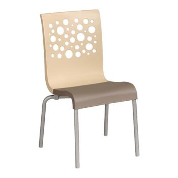 GFXUS104413 - Grosfillex - US021413 - Beige/Taupe Tempo Sidechair - 4 Pack Product Image