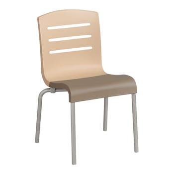 GFXUS041413 - Grosfillex - US041413 - Beige/Taupe Domino Sidechair - 4 Pack Product Image