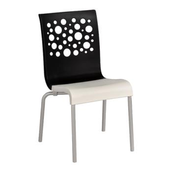 GFXXC100017 - Grosfillex - US210017 - Black/White Tempo Sidechair - 12 Pack Product Image