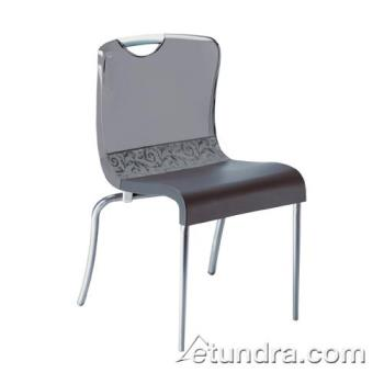 GFXXD203208 - Grosfillex - XD203208 - Krystal Smoke/Charcoal Indoor Chair Product Image