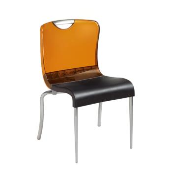 GFXXD203447 - Grosfillex - XD203447 - Krystal Amber/Charcoal Indoor Chair Product Image