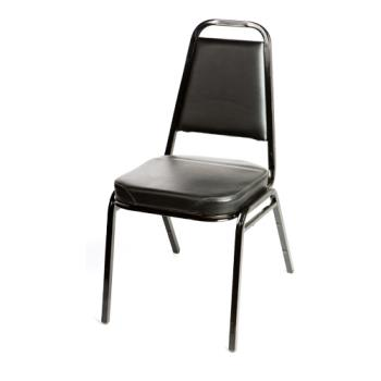 OAKSL2082BLK - Oak Street - SL2082-BLK - Black Stacking Chair Product Image