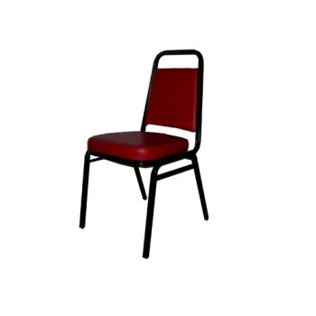 WINSC3BU - Winco - SC-3BU - Stacking Chair with Burgundy Pad Product Image