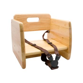 86296 - GET Enterprises - BS-200-N - Natural Wood Booster Seat Product Image