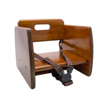 86297 - GET Enterprises - BS-200-W - Walnut Wood Booster Seat Product Image
