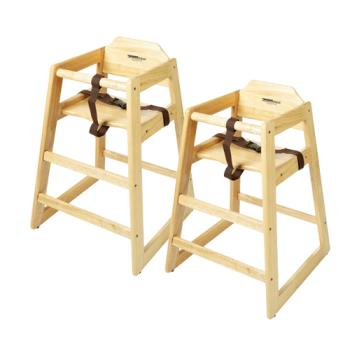 GETHC100N2 - GET Enterprises - HC-100-N-2 - Natural High Chair Product Image