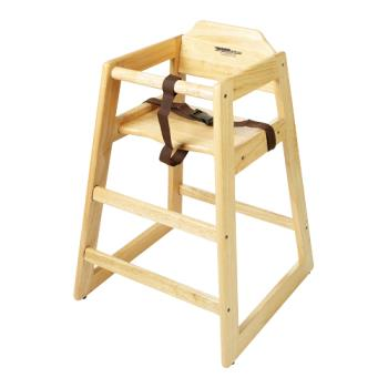 GETHC100NKD - GET Enterprises - HC-100-N-KD-1 - Knock Down Natural High Chair Product Image