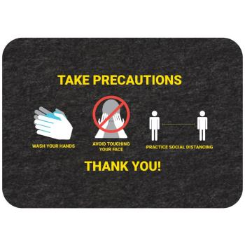 "56287 - New Pig - GMM21003 - ""Take Precautions"" Social Distancing Floor Sign Product Image"
