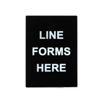 WINSGN803 - Winco - SGN-803 - Line Forms Here Sign Product Image
